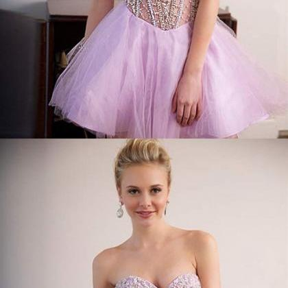 Violet Homecoming Dresses,Short Hom..
