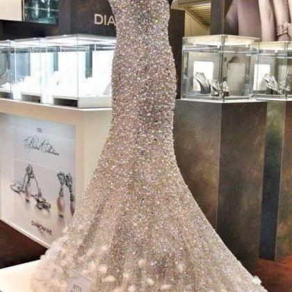 Luxury Mermaid Wedding Dresses Rhin..
