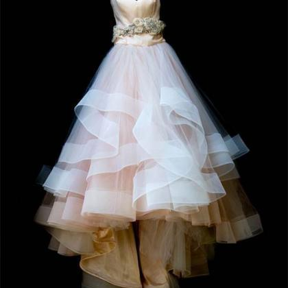 Champagne Bodice and White Skirt We..