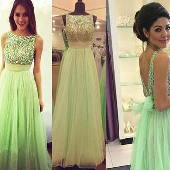 green prom Dress,charming Prom Dres..