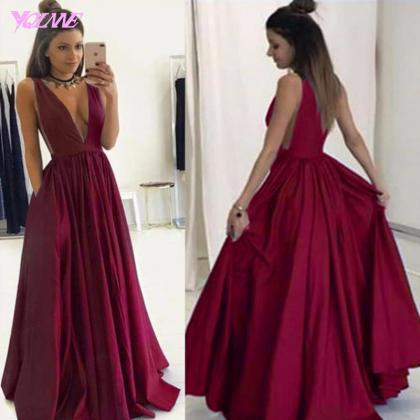 Wine Red Prom Dresses,Sexy Dresses,..