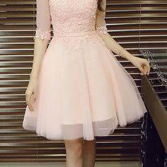 Appliques Pretty Homecoming Dress,S..