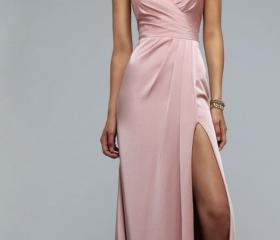 Pearl Pink Long Prom..