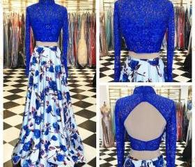 Long Sleeves Prom Dr..