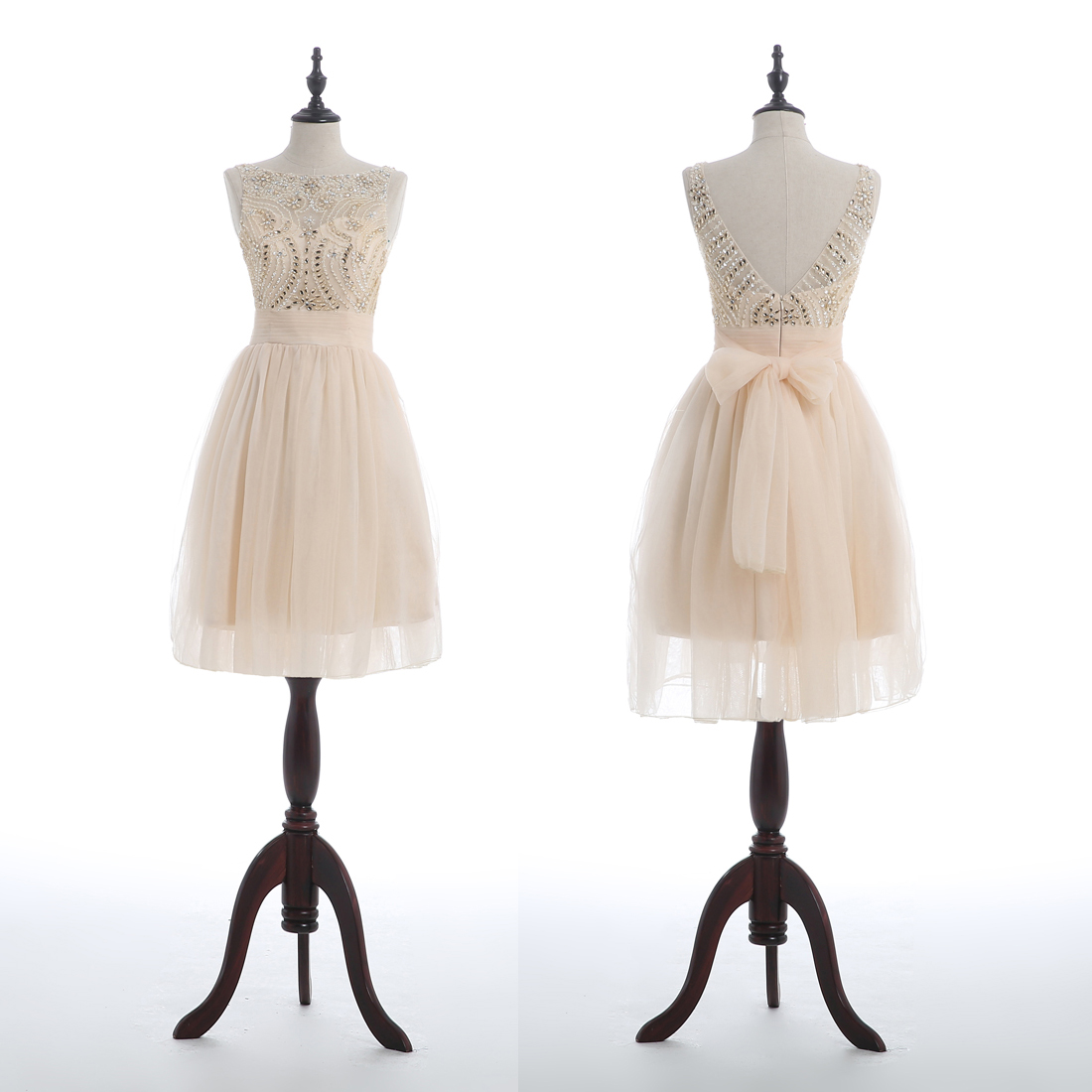champagne homecoming dress, junior homecoming dress, lovely homecoming dress, cheap homecoming dress, homecoming dress