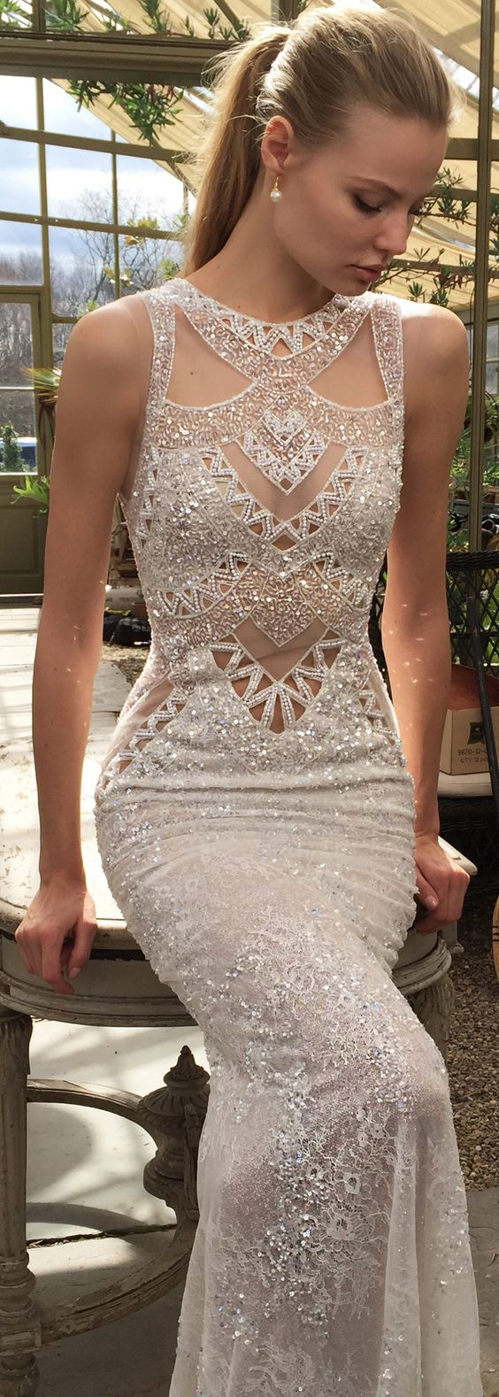 Elegant Mermaid Prom Dresses,Sleeveless Beading Wedding Dresses,Charming Women Evening Dresses