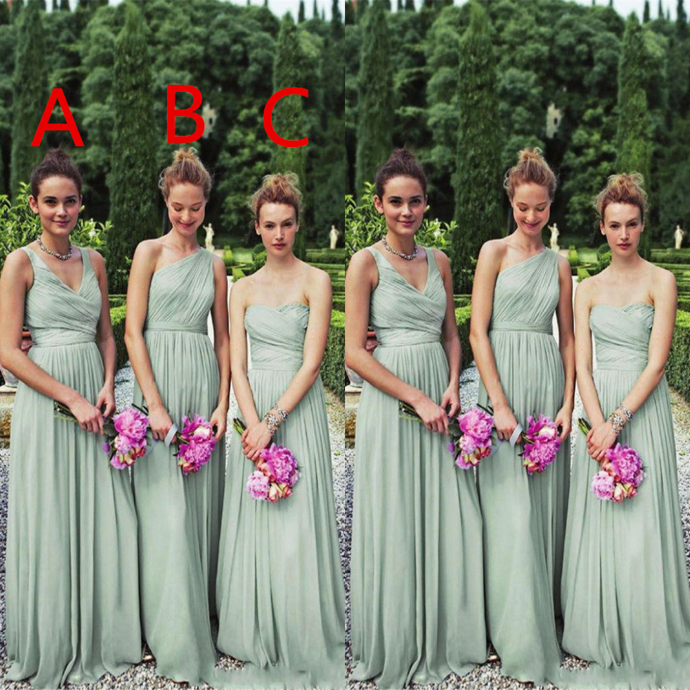 yet not vulgar latest releases big discount sale 2018 Lady Chiffon Styles To Honor Knee Dresses Sage Green Bridesmaid  Dresses Custom Plus Size,BD854