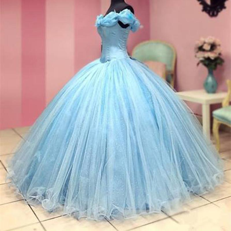 a7ca68eeac Cinderella Corset Prom Dress Ball Gown Girls Sweet 16 Debutante Gown  Birthday Quinceanera Dress