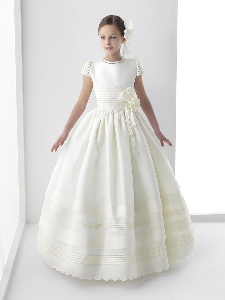 82b2e8518c1 2017 Real photo Cute Flower Girls Dresses For Weddings New Cap Sleeve Bow Lace  First Communion Dress For Girls Custom Made