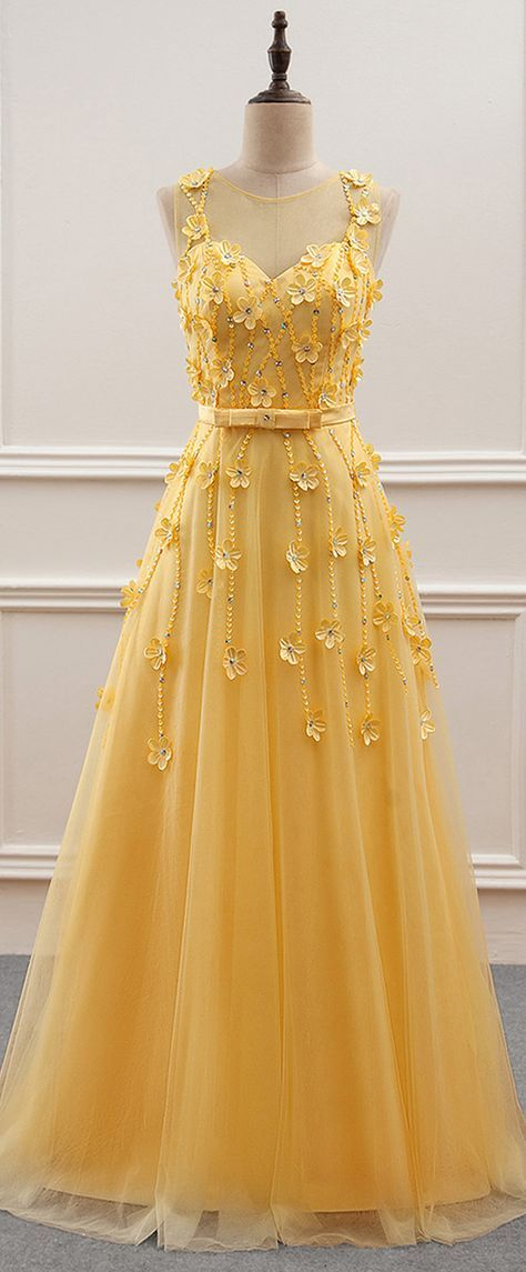 Gorgeous Tulle Jewel Neckline A-Line Prom Dress With Beading,P3858