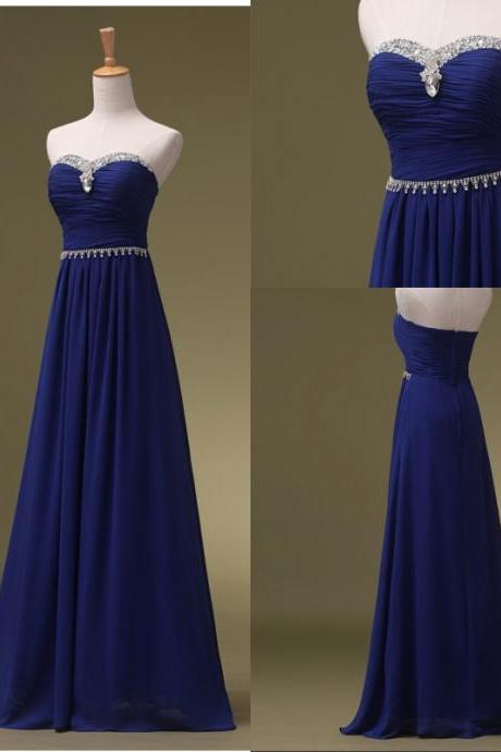 Royal Blue Prom Dresses, Long Bridesmaid Dresses, Long Evening Dresses, Strapless Evening Gowns, Formal Dress, Party Dresses