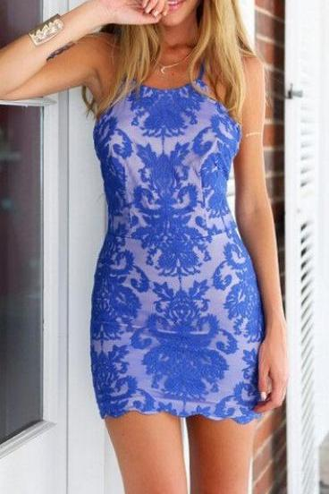 Homecoming Dress,Cute Homecoming Dress,Lace Homecoming Dress,Short Prom Dress,Royal Blue Homecoming Gowns