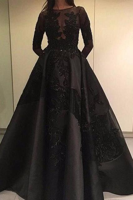 Prom Dress, New Arrival Long Sleeve Evening Dress,Ball Gown Evening Dress,Sexy Prom Dresses,Formal Gowns ,Floor-length Prom Dresses,Wedding Guest Prom Gowns, Formal Occasion Dresses,Formal Dress