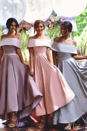 Off Shoulder Simple Bridesmaid Dress,New Arrival Custom bridesmaid dress, Wedding Party Dresses,Long Bridal Gowns