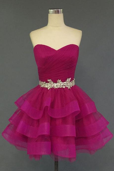 Charming Homecoming Dress,Organza Homecoming Dress,Sweetheart Homecoming Dress, Short Noble Homecoming Dress