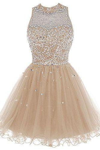 Short Tulle Beading Homecoming Dress Prom Gown,Party Dress,Graduation Dresses