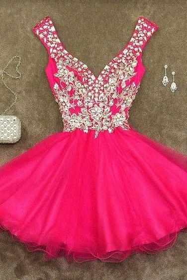 Bling Party Dress,Short Prom Dress,Silver Beading Sweet 16 Dress,Sparkly Homecoming Dresses,Glitter Formal Evening Gown