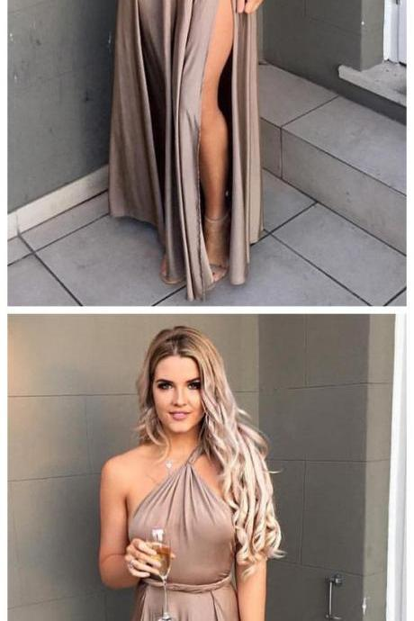 One Shoulder Prom Dress,Split Prom Dress,Fashion Prom Dress,Sexy Party Dress, New Style Evening Dress