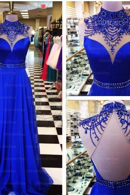 Royal Blue Prom Dresses Backless Prom Dress Unique Prom Dresses Sexy Prom Dresses 2017 Prom Dresses Popular Prom Dresses Dresses For Prom,PD305