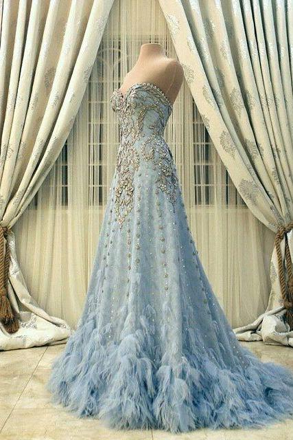 Evening Dresses, Prom Dresses,Party Dresses,New Arrival Prom Dress,Modest Prom Dress,Flower wedding dress,blue wedding dress,blue wedding dress,wedding dress,PD316