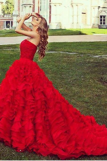 Modest Prom Dress,New Prom Dress ,Long Prom Dresses,red Evening Dress,Sexy Evening Dresses,P569