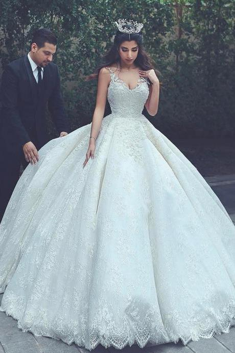 lace wedding gowns,princess wedding dress,ball gowns wedding dress,vintage wedding dress,wedding dresses 2017,W915