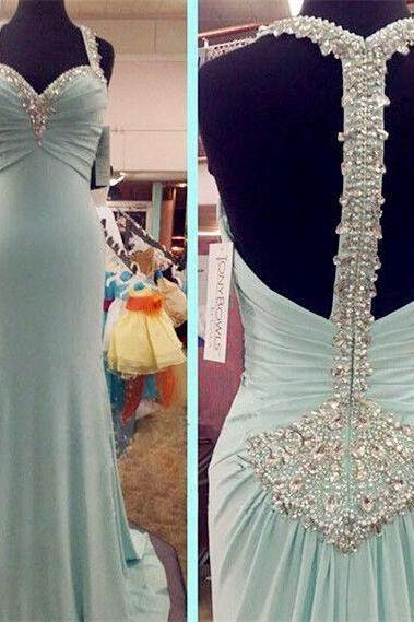 New Arrival Sexy Prom Dress, Sleeveless Spandex Prom Dress ,Halter Evening Gowns with Beaded,P968