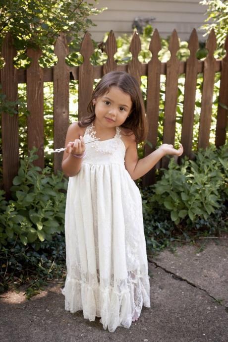 Little girls dress, 2017 lace flower children, flower girl dresses, wedding, baptism dress, ivory, white, girl dress,FG1187