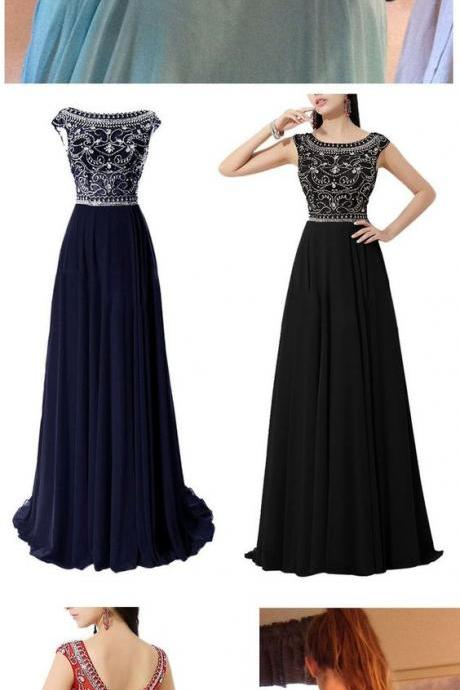 Modest Prom Dress,Beaded Prom Dress,A Line Prom Dress,Fashion Prom Dress,Sexy Party Dress, New Style Evening Dress,P1644