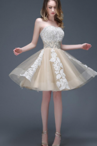 Wonderful Tulle Sweetheart Neckline Short A-line Homecoming Dresses,H1748