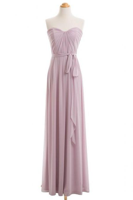 Dusty Purple Bridesmaid Dress, Long Bridesmaid Dress, Bridesmaid Dresses Cheap, 2017 Bridesmaid Dress, Chiffon Bridesmaid Dress, Bridesmaid Dresses Women,B1927