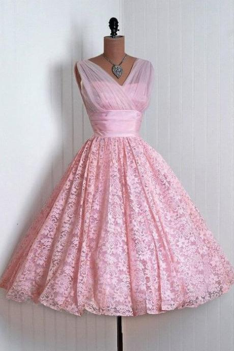 Vintage Homecoming Dress,Vintage Homecoming Dress,Homecoming Dress,Lace Homecoming Dress,Pink Homecoming Dress,Vintage Homecoming Dresses, Lace Homecoming Dresses,girls party dress, sexy prom Dresses,homecoming dress,H1989