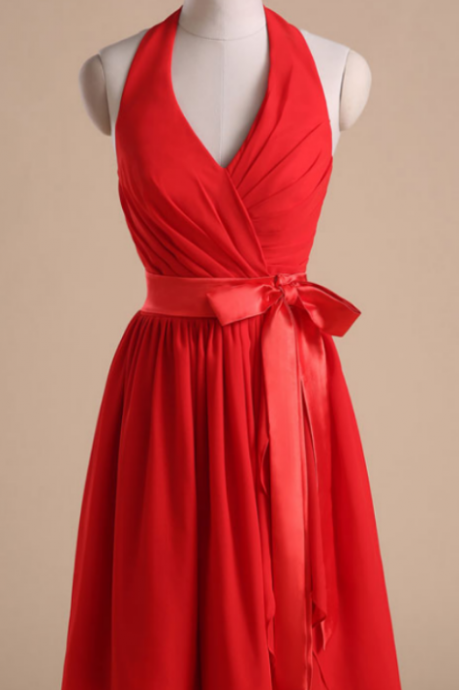 Red cocktail dress, butterfly end, ball gown, bridesmaid dress,B2026