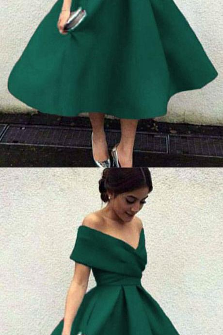 V-neck ,Off The Shoulder ,Tea Length ,Ball Gowns ,Party Dresses , Evening Gowns, 2018 new fashion ,Prom Dresses,H2027