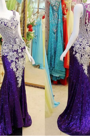 Elegant 2018 New Stunning Sparking Beaded Prom Dress Party Dress Evening Gown With Cover Back,P2029