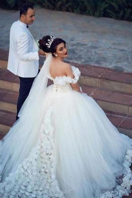 2018 Wedding Dresses, Ball Gown Wedding Dress,W2345