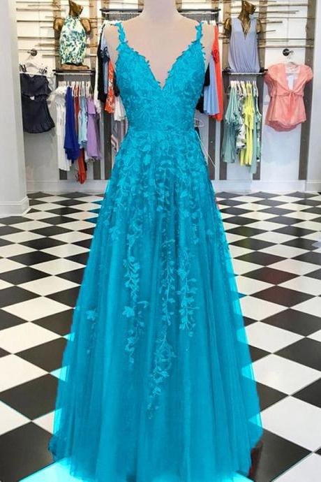 Burgundy /Turquoise /Green Fancy Girls Burgundy Lace Appliques Prom Dresses with Straps,P3640