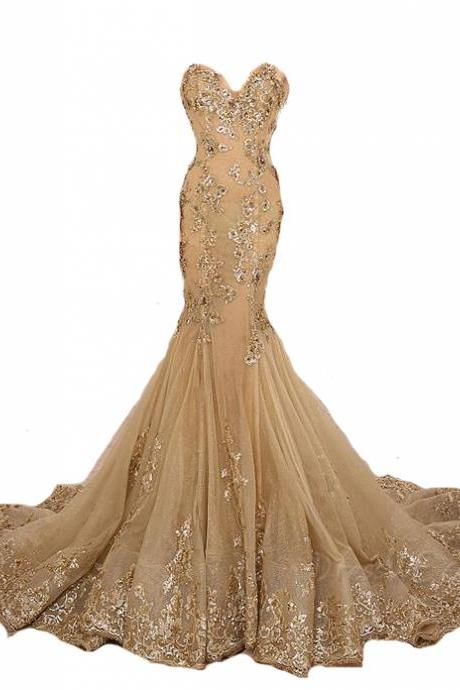P3581 Gold Prom Dress,Lace Prom Dress,Sexy Prom Dress,High Collar Prom Dress,Mermaid Prom Dress,Beaded Prom Dress,Champagne Prom Dress,Fashion Prom Dress,Luxury Prom Dress,Long Prom Dresses,Party Dress,Cheap Prom Dress,Formal Dress, Sexy Gril Dress, Floor-Length Prom Dresses, Evening Dresses, Custom Dress
