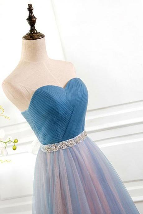 2017 Custom Made Chiffon Prom Dress,Sweetheart Party Dress,Sleeveless Prom Dress,high quality