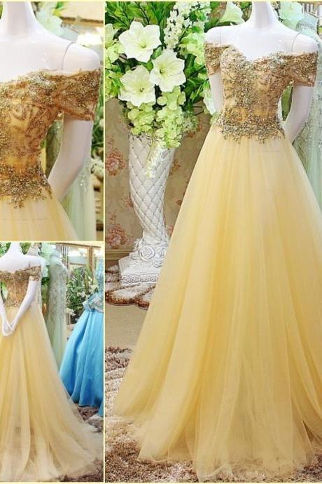 Beaded Prom Dress,Off The Shoulder Prom Dress,Illusion Prom Dress,Fashion Prom Dress,Sexy Party Dress, 2017 New Evening Dress,286