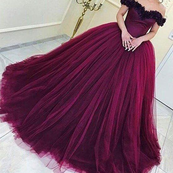 Elegant Prom Dress, Long Prom Dress,Tulle Prom Dresses, Formal Evening Dress,Ball Gown Prom Dresses