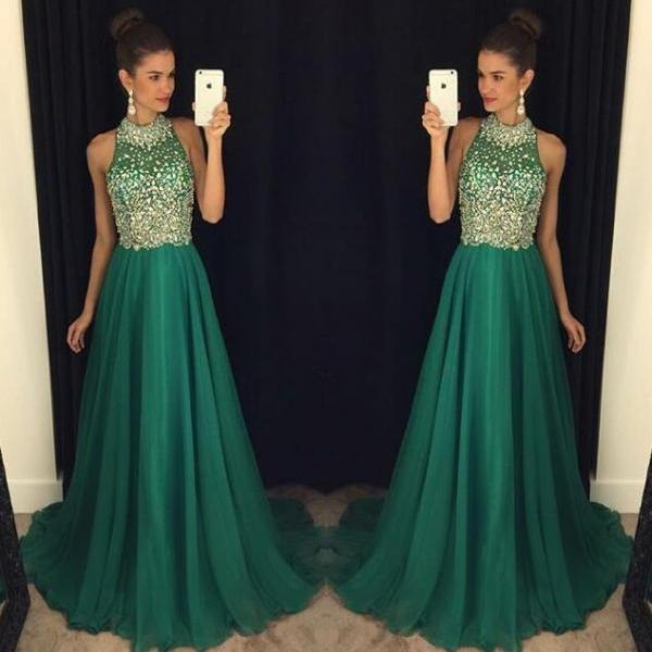 green prom Dress,charming Prom Dresses,Evening Dress,long prom dress,new prom dress