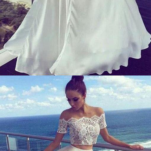 Two Pieces Off The Shoulder Prom Dresses,Long Prom Dresses,Cheap Prom Dresses, Evening Dress Prom Gowns, Formal Women Dress,Prom Dress,P489