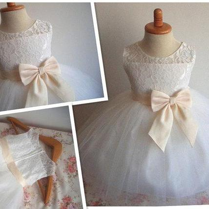 Flower Girl Dress Little Baby Girl Baptism Dress Tulle TuTu Infant Toddler Pageant Birthday Party Christening Junior Wedding,FG851