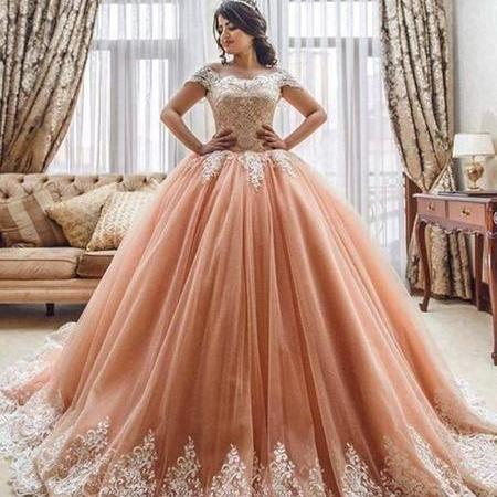Pink Off Shoulder Lace Prom Dresses, Pink Lace Prom Gown, Evening Dresses,P2858