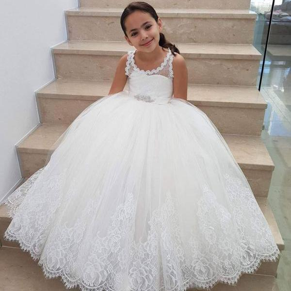 Brithday Party Baby Little Kids Flower Girl Dress Princess Girls Pageant Dresses Kids Prom Puffy Ball Gown,FG3878