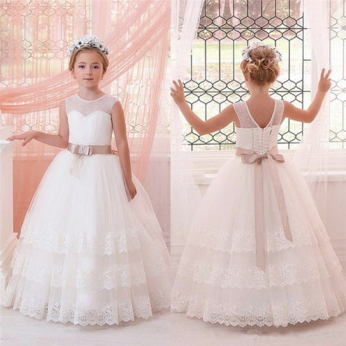 Little Kids Baby Dress Flower Girl Dress Communion Formal Occasion Party Dress,FG3881