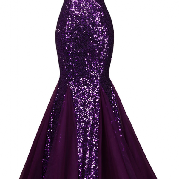 Sequin Long Sparkly Dark Salmon Purple Evening Dress Elegant Formal Dresses Mermaid Evening Gowns High Quality,P3346