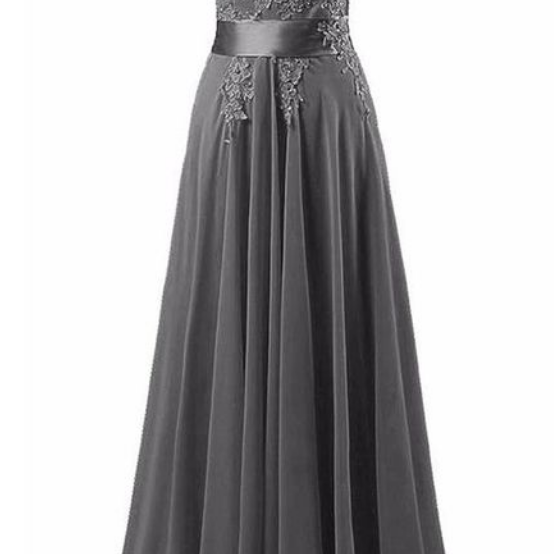 Sexy Prom Dress,Sleeveless Appliques Prom Dress,Chiffon Evening Dress,Long Evening Gowns,P3364