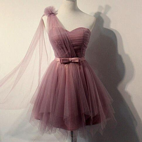 Charming Homecoming Dress,Tulle Homecoming Dress,Pleat Homecoming Dress,Cute Homecoming Dress